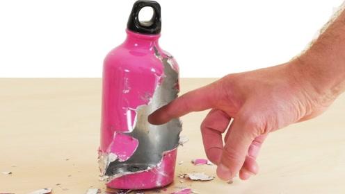 镓比硫酸还恐怖?小伙滴一滴在水杯上,10秒后竟瞬间裂开了!