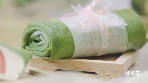 一个平底锅就能做出网红抹茶毛巾卷,超治愈!