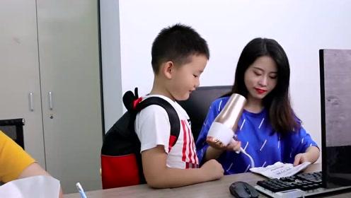 老板家熊孩子大闹办公室,小野做创意练习册蛋糕成功制霸!