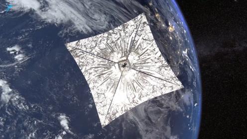 """摆脱工质束缚,御光而行,行星协会的""""光帆2号""""成功部署太阳帆"""