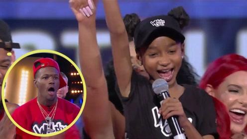 国外说唱歌手互怼现场,12岁小女孩开口惊人!未来的饶舌女王!