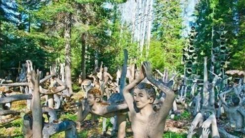"""湖南暴雨过后,雨林出现诡异雕塑轰动全国,网友:天送""""奇迹"""""""