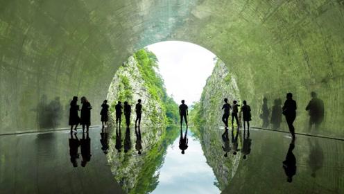 """惊艳!中国建筑师在日本设计了一条""""光之隧道"""""""