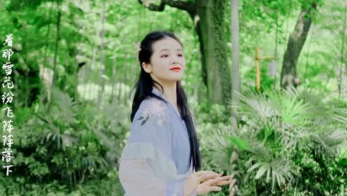 美如桃花!汉服女孩翻跳中国舞《一抹桃花》,一颦一笑都太美了