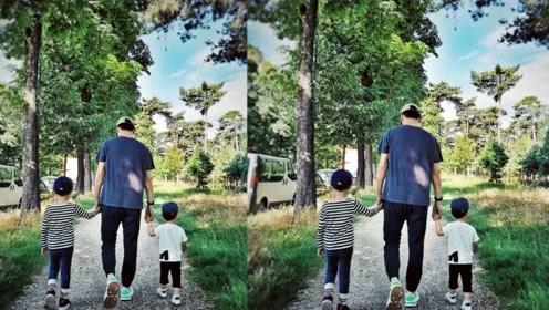 靳东妻子晒照为小儿子庆生,父子三人手牵手显温馨,好幸福一家人