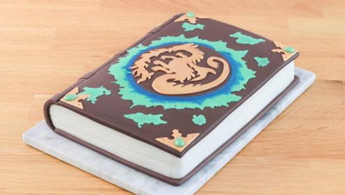 """用蛋糕制作的""""创意魔法书"""",这叫我怎么吃?"""