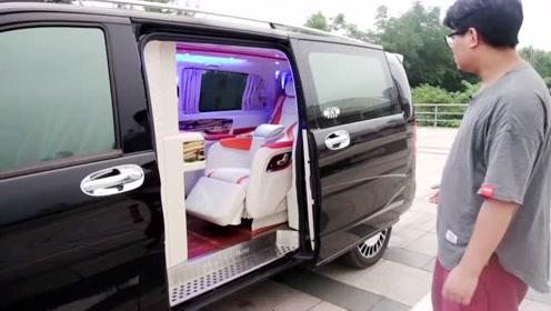 奔驰威霆改装房车,顶级头等舱航空座椅舒适一路