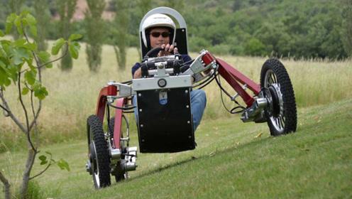 """50岁大叔发明""""蜘蛛""""车,四轮独立悬挂,上山下坡如履平地"""