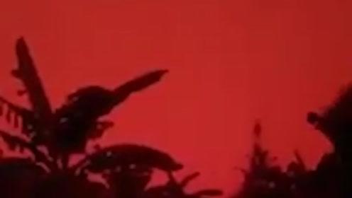 """分不清昼夜!印尼""""烧芭""""造成严重空气污染 天空变成一片血红色"""