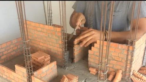 建个房屋模型,和现实一样按照真实步骤来盖房,让众人叹服