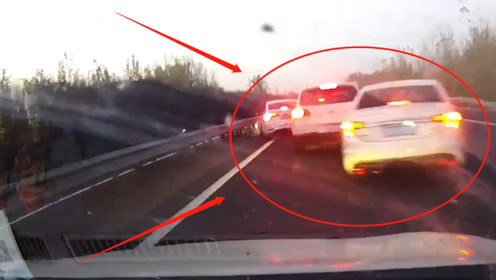 惨烈!高速路上20余辆汽车连环追尾只因这件事,不是监控这谁敢信?