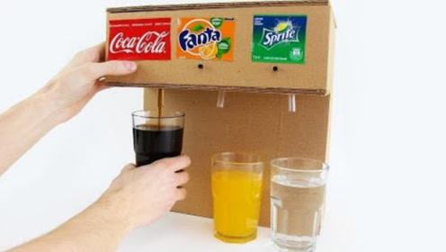 小伙爱上自助餐的饮料机,纯手工打造,很简陋但很实用!