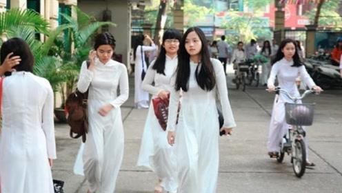 为什么越南女人都喜欢穿奥黛?男游客:这样才方便!