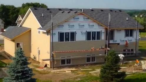 延时拍摄,6分钟看完建造一栋别墅,等我有钱了也盖个一样的