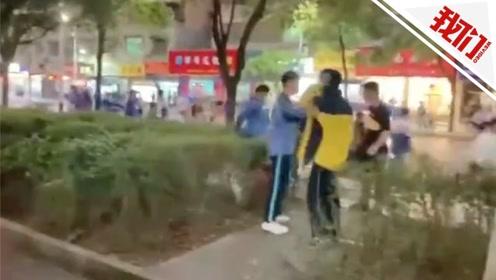 湖南桂阳两所中学学生因口角打群架 过路民警夺刀受伤