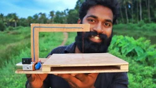 用木板和铜线制作简易热切割机,网友:看完学到了