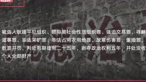 太原古交原首富耿建平等人涉黑案一审公开宣判 耿建平被判25年