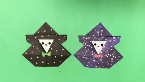纯手工折纸DIY教程,教你如何折叠一个万圣节装饰品