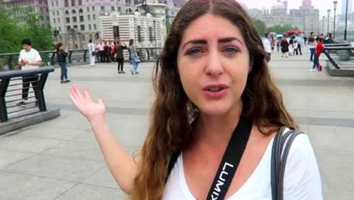美国姑娘在中国,街头看见这一幕:这在美国根本不可能