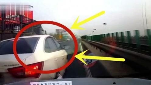别克司机高速惊险别车,下一秒就被教做人,行车仪记录解气时刻!