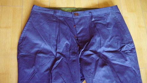 裤子不要花钱买,只需一块旧布料,在家就能做出时尚美裤