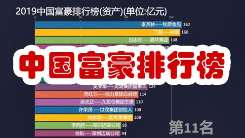 最新!2019中国首富排行榜!东哥怎么掉了这么多?[数据可视化]