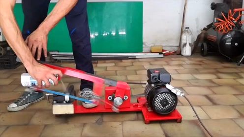 牛人自制电动切割锯,简直太实用了,功能超乎你想象