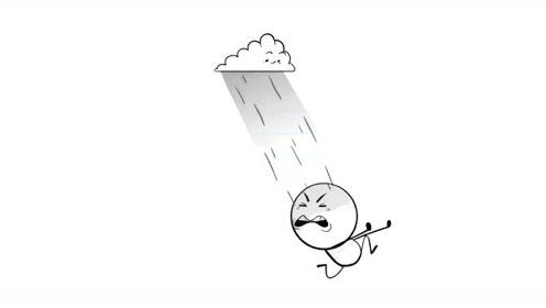 创意搞笑简笔动画,铅笔小人摆脱不了云和雨的纠缠