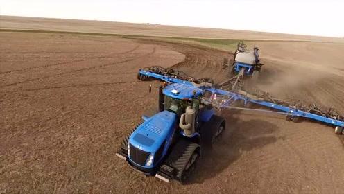 看了国外的大型耕地机,才知道什么叫高效,真是大开眼界!