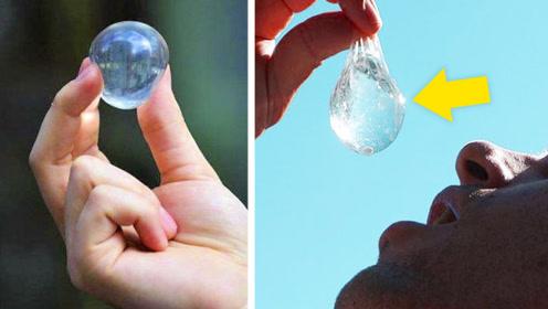 """可以""""吃""""的水球,既环保又容易携带,网友:即将代替矿泉水!"""
