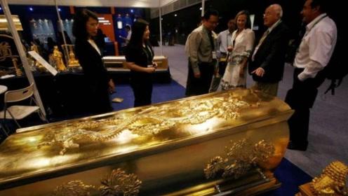 中国山西出土一口黄金棺材,为何专家不敢开棺,里面放着什么?