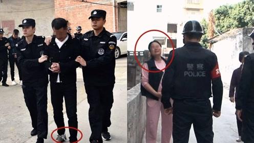 实拍:广西特警押解嫌犯公开指认现场 怀孕妻子目睹现场泪流满面