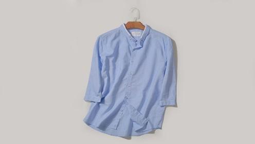 男朋友的旧衬衫别着急丢,简单改造下,成品保证很多美女抢着要