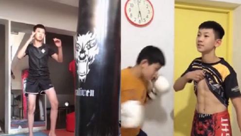 14岁搏击少年身材精瘦拳脚却爆发力惊人 8块腹肌引网友叹服