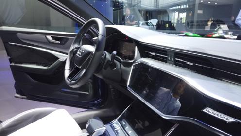 【广州车展】比宝马5系更具科技感 广州车展A6L插电混内饰解析