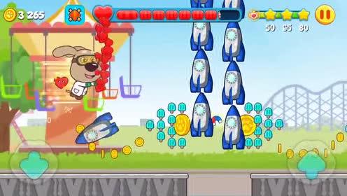 好玩的游戏:变大的憨憨狗连火箭都不怕了!直接撞飞!