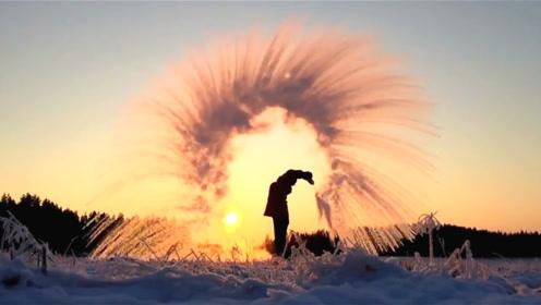 北方才有的浪漫!零下60度室外洒热水,画面美到舍不得移开眼