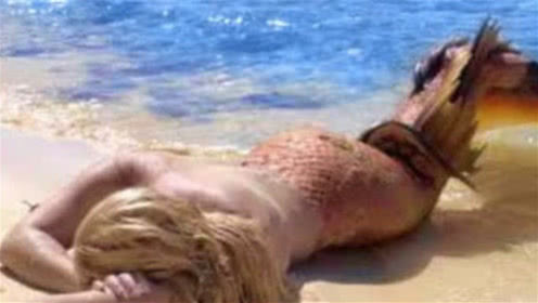 """国外海滩惊现神秘""""美人鱼"""",引来众人围观,老渔民一眼认出它的身份"""