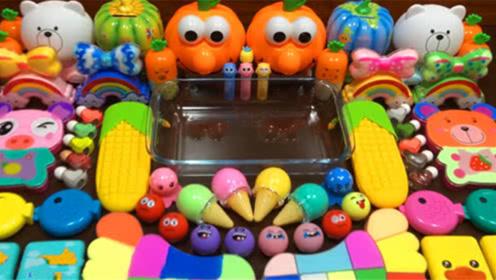 创意史莱姆教程,彩虹珍珠米粒泥+小鸭彩泥+珍珠豆+蛋壳彩泥
