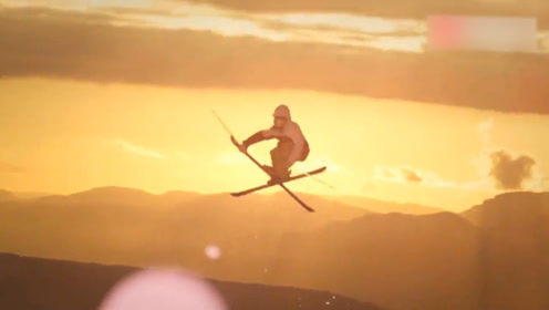 人在前面飞雪在后面追,航拍雪山滑雪极限运动,就差雪崩没参加了
