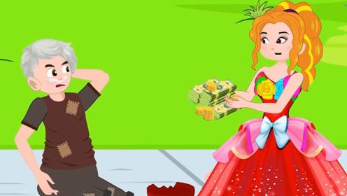女孩终于存够钱,想去买漂亮裙子,结果却将钱施舍给乞丐!