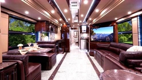 赵本山最贵房车,长11.5米重12吨,国内就一辆,堪比宫殿