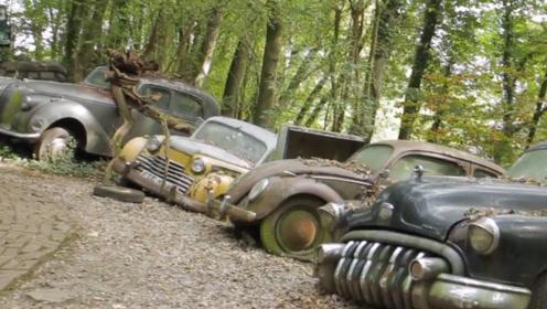老外酷爱收藏报废汽车,50辆全扔在路边,知道价值后才知心多大!