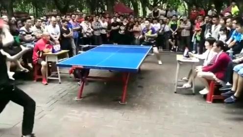 中国街头的乒乓球就像美国街头的篮球,这氛围太厉害了
