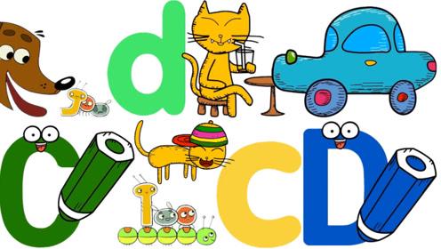 快乐英语:字母英语单词学习C和D,书适优阅儿童英语