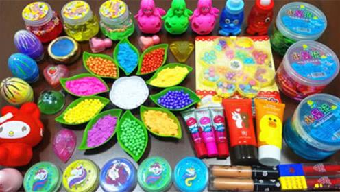 DIY史莱姆教程,珠光泥混合化妆品、珍珠水晶泥、小饰品,效果好吗
