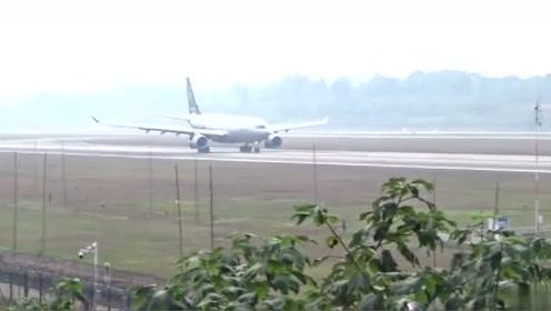 天合联盟 中国东方航空空客A330降落全过程
