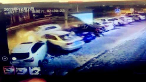 醉酒女把车给陌生男子开 男子连撞6车后逃之夭夭