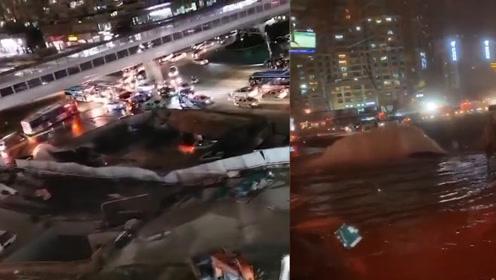 """厦门吕厝地陷致水管破裂:5年有多次发生""""破管""""事故"""
