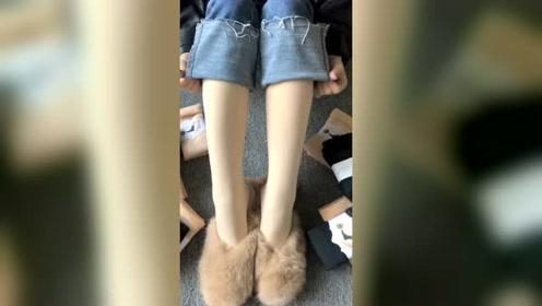 冬天想露脚踝的美女看过来,不穿光腿神器也能露脚踝了